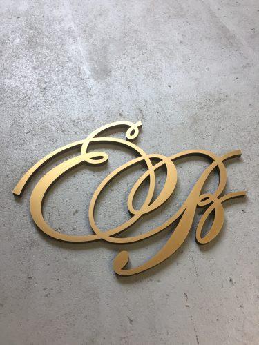 huwelijk monogram van goud