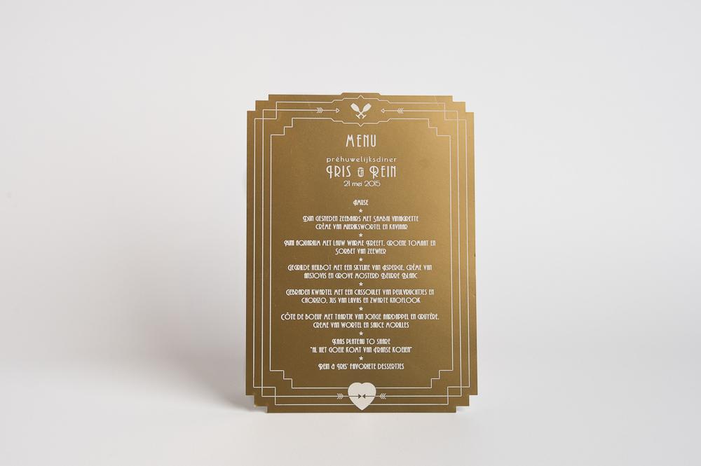 gouden menukaart